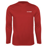 Performance Red Longsleeve Shirt-Chief - Primary Logo