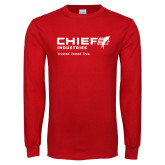 Red Long Sleeve T Shirt-Chief Industries - Tag Line
