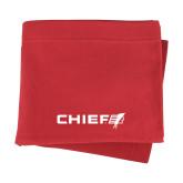 Red Sweatshirt Blanket-Chief - Primary Logo