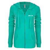 ENZA Ladies Seaglass Light Weight Fleece Full Zip Hoodie-BonnaVilla