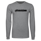 Grey Long Sleeve T Shirt-BonnaVilla