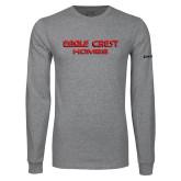 Grey Long Sleeve T Shirt-Eagle Crest
