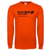 Orange Long Sleeve T Shirt-Chief Industries - Tag Line