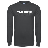 Charcoal Long Sleeve T Shirt-Chief - Primary Mark Tagline