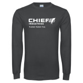 Charcoal Long Sleeve T Shirt-Chief Industries - Tag Line