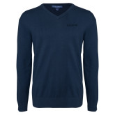 Classic Mens V Neck Navy Sweater-Chief Industries