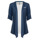 Ladies Navy Drape Front Cardigan-Chief Industries