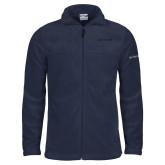 Columbia Full Zip Navy Fleece Jacket-Chief - Primary Logo