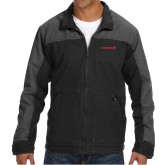 DRI DUCK Horizon Charcoal/Black Canvas Jacket-Chief - Primary Logo