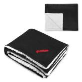 Super Soft Luxurious Black Sherpa Throw Blanket-BonnaVilla