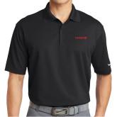 Nike Golf Dri Fit Black Micro Pique Polo-Chief - Primary Logo