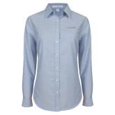 Ladies Light Blue Oxford Shirt-BonnaVilla