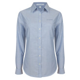 Ladies Light Blue Oxford Shirt-Chief - Primary Logo