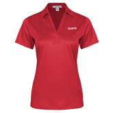 Ladies Red Performance Fine Jacquard Polo-Chief Industries