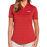 Ladies Callaway Horizontal Textured Deep Red Polo-Chief - Primary Logo