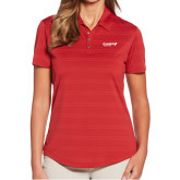 Ladies Callaway Horizontal Textured Deep Red Polo-Chief Industries