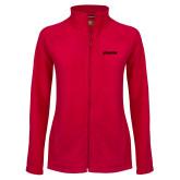Ladies Fleece Full Zip Red Jacket-BonnaVilla