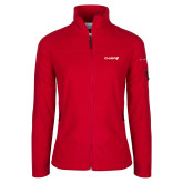 Columbia Ladies Full Zip Red Fleece Jacket-Chief - Primary Logo
