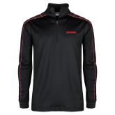 Nike Golf Dri Fit 1/2 Zip Black/Red Pullover-BonnaVilla