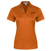 Ladies Orange Performance Fine Jacquard Polo-Chief Industries