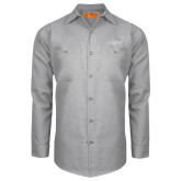 Red Kap Light Grey Long Sleeve Industrial Work Shirt-Chief Industries