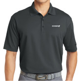 Nike Golf Dri Fit Charcoal Micro Pique Polo-Chief - Primary Logo