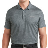 Nike Dri Fit Charcoal Crosshatch Polo-BonnaVilla