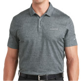Nike Dri Fit Charcoal Crosshatch Polo-Chief - Primary Logo