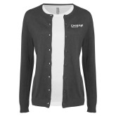 Ladies Charcoal Cardigan-Chief Industries