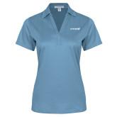 Ladies Light Blue Performance Fine Jacquard Polo-Chief - Primary Logo