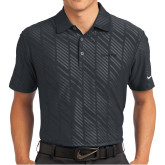 Nike Dri Fit Black Embossed Polo-Chief - Primary Logo