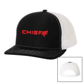 Richardson Black/White Trucker Hat-Chief - Primary Logo