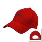 Red Heavyweight Twill Pro Style Hat-BonnaVilla