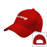 Red Heavyweight Twill Pro Style Hat-Chief - Primary Logo