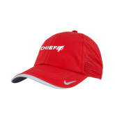 Nike Dri Fit Red Perforated Hat-Chief - Primary Logo