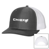Richardson Charcoal/White Trucker Hat-Chief - Primary Logo