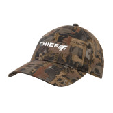 Oilfield Camo Structured Hat-Chief - Primary Logo
