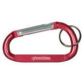 Red Carabiner with Split Ring-BonnaVilla Engraved