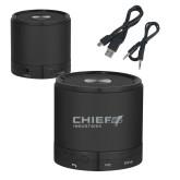 Wireless HD Bluetooth Black Round Speaker-Chief Industries Engraved