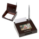 Photo Notepad Holder w/Pen-Chief - Primary Logo Engraved
