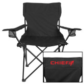 Deluxe Black Captains Chair-Chief - Primary Logo