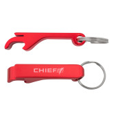 Aluminum Red Bottle Opener-Chief - Primary Logo Engraved