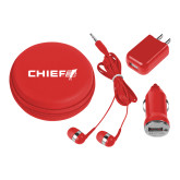 3 in 1 Red Audio Travel Kit-Chief - Primary Logo