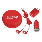 3 in 1 Red Audio Travel Kit-Chief Industries