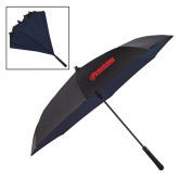 48 Inch Auto Open Black/Navy Inversion Umbrella-BonnaVilla