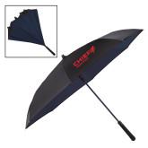 48 Inch Auto Open Black/Navy Inversion Umbrella-Chief Industries
