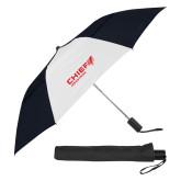 42 Inch Slim Stick Black/White Vented Umbrella-Chief Industries