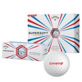 Callaway Supersoft Golf Balls 12/pkg-Chief - Primary Logo