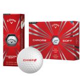 Callaway Chrome Soft Golf Balls 12/pkg-Chief - Primary Logo