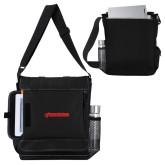 Impact Vertical Black Computer Messenger Bag-BonnaVilla